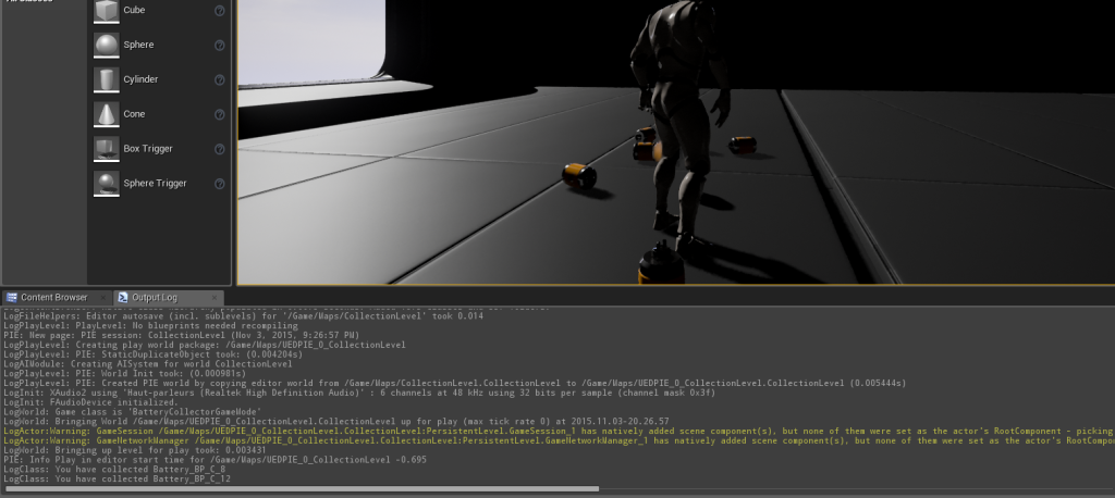 unreal engine how to clear output log